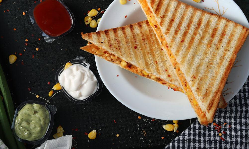 Sandwich auf Kontaktgrill